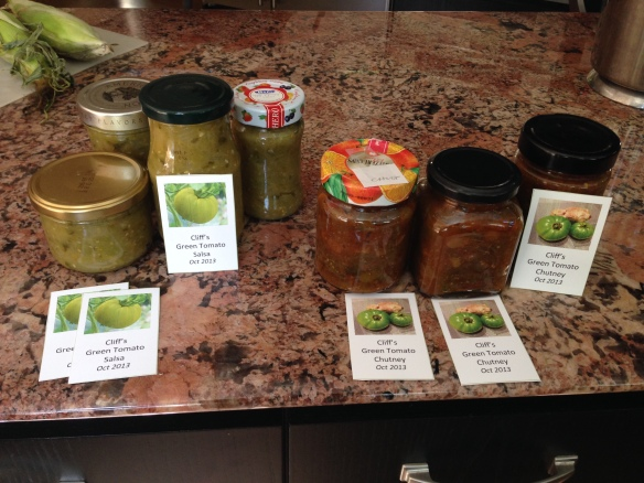 Green Tomato Chutney and Salsa!